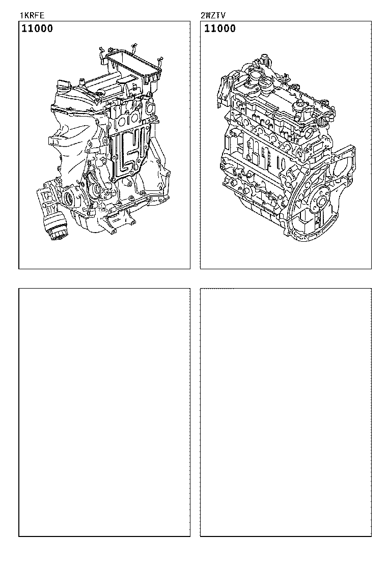 AYGO |  PARTIAL ENGINE ASSEMBLY