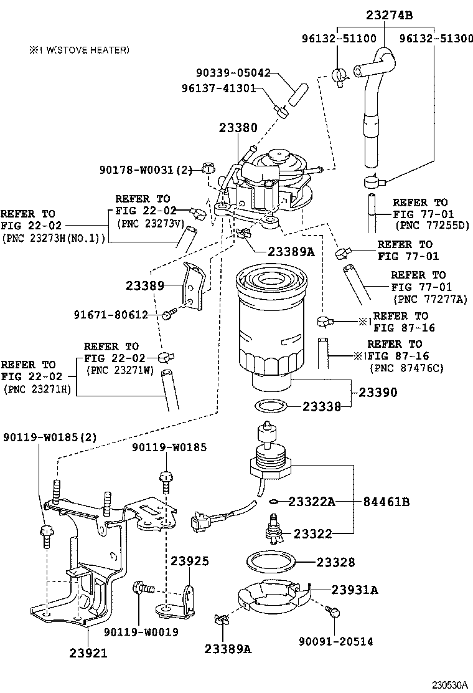 toyota corollande180r-defdxw - tool-engine-fuel