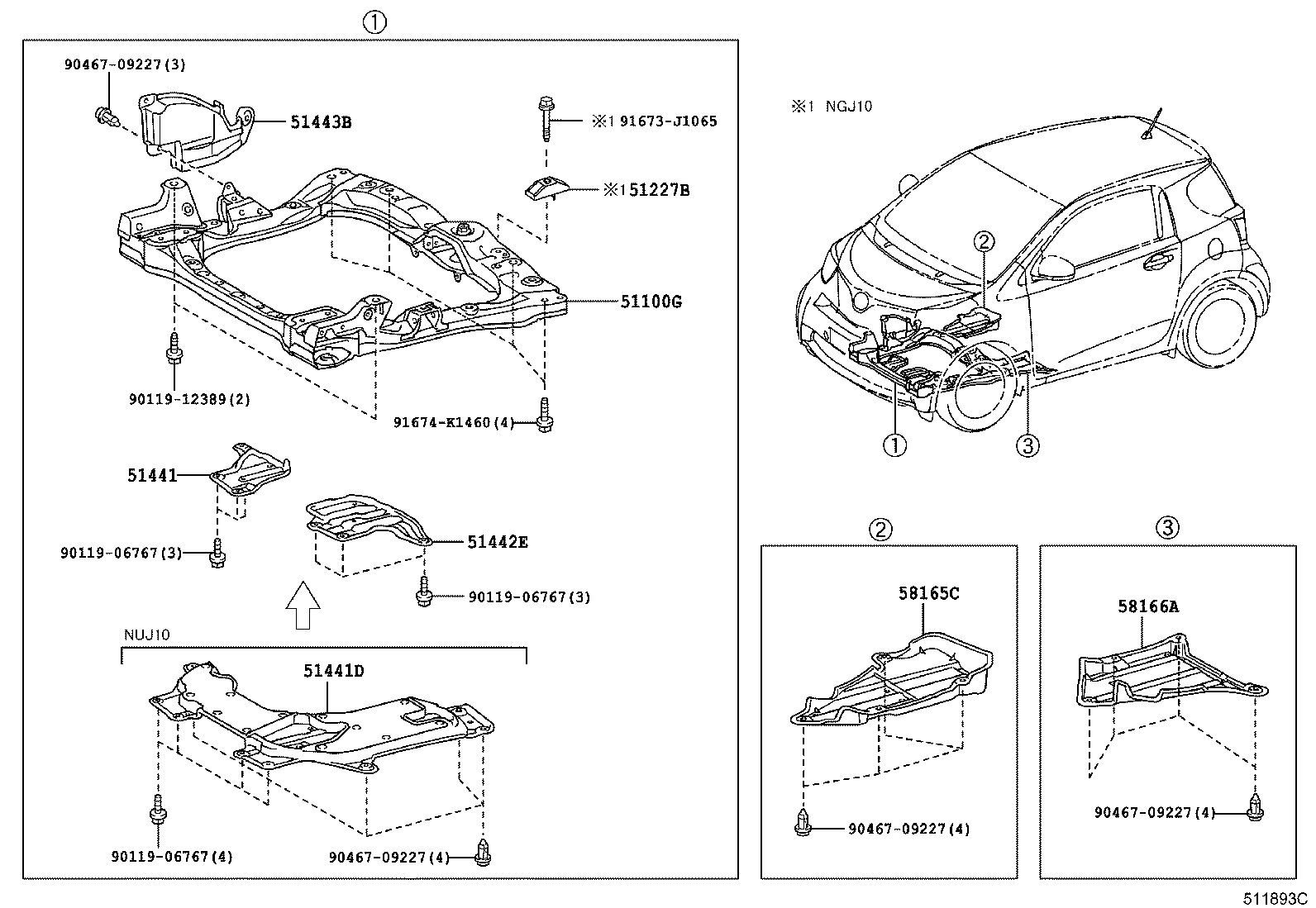 2008 toyota prius parts list