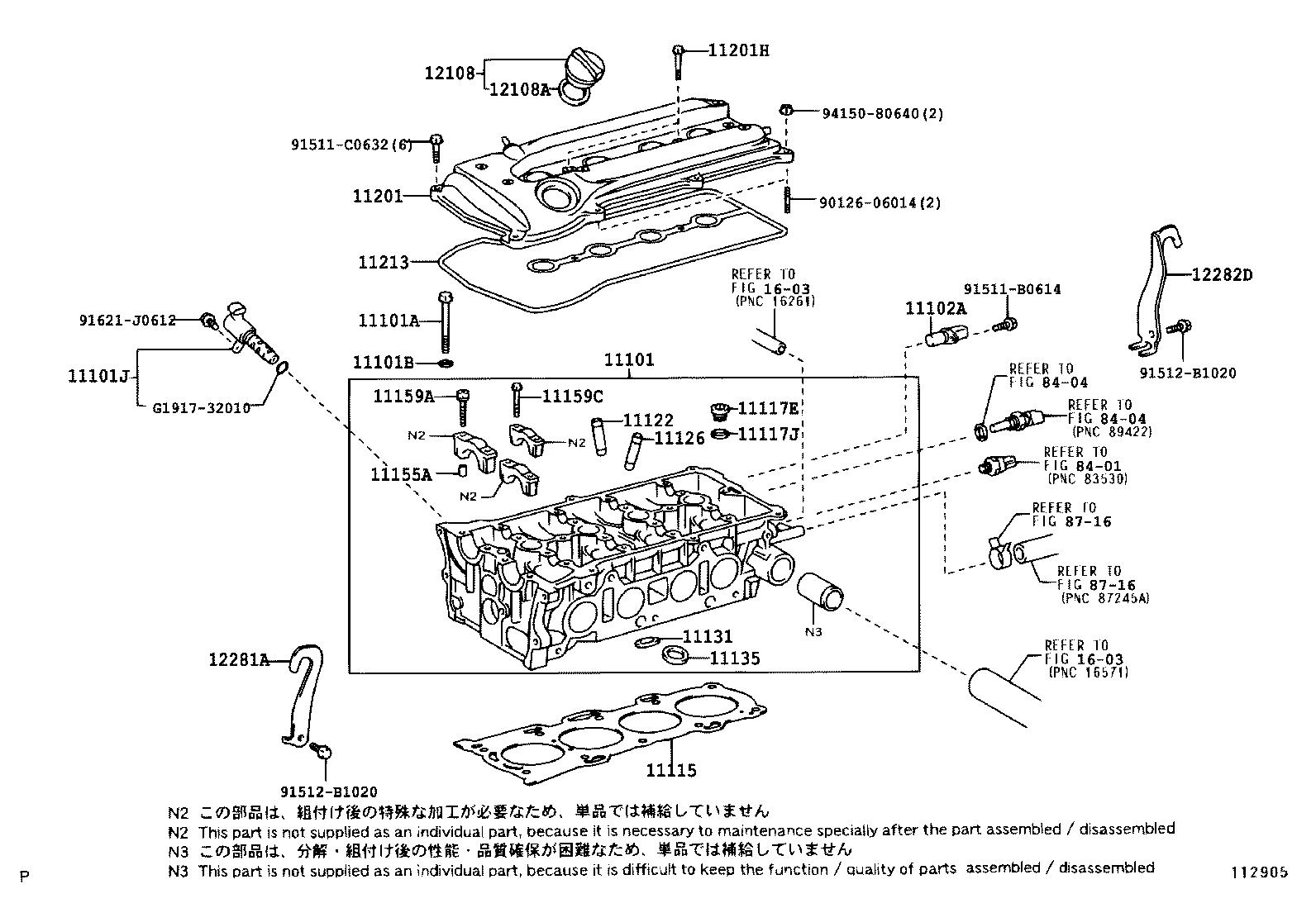 toyota rav4aca20l-azmnk - tool-engine-fuel