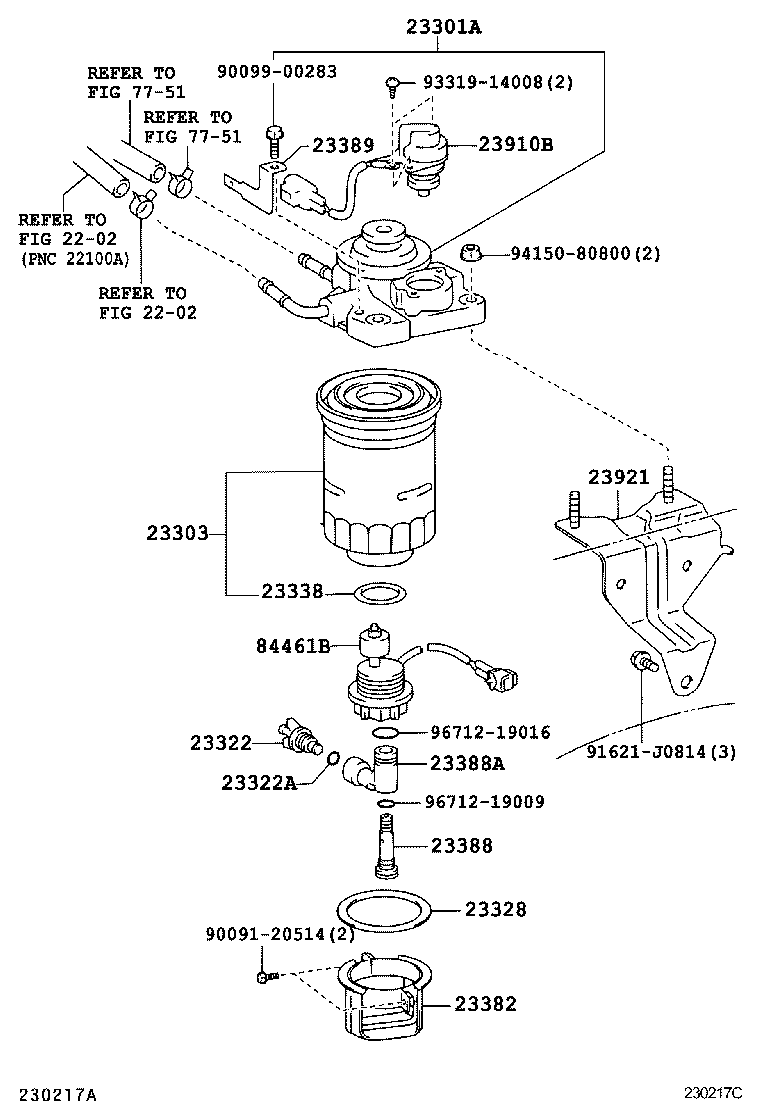 yaris engine diagram showing fuel filter 354 tractor wire