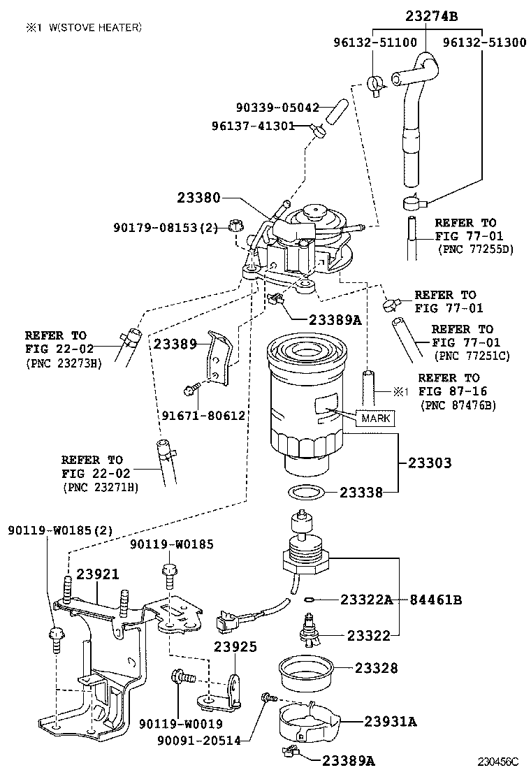 toyota avensisadt270r-aefnyw - tool-engine-fuel