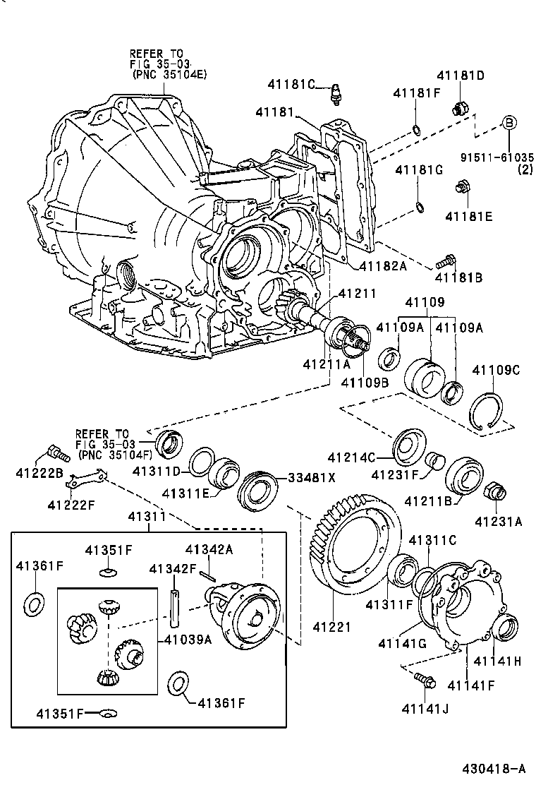 Toyota Camrysxv20l-aepnkw - Powertrain-chassis