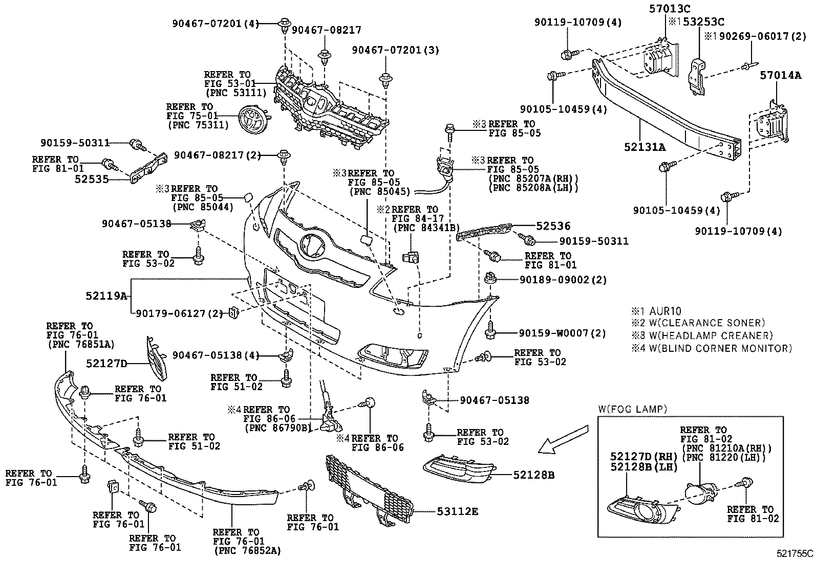 C on 2007 Toyota Corolla Front End Parts Diagram