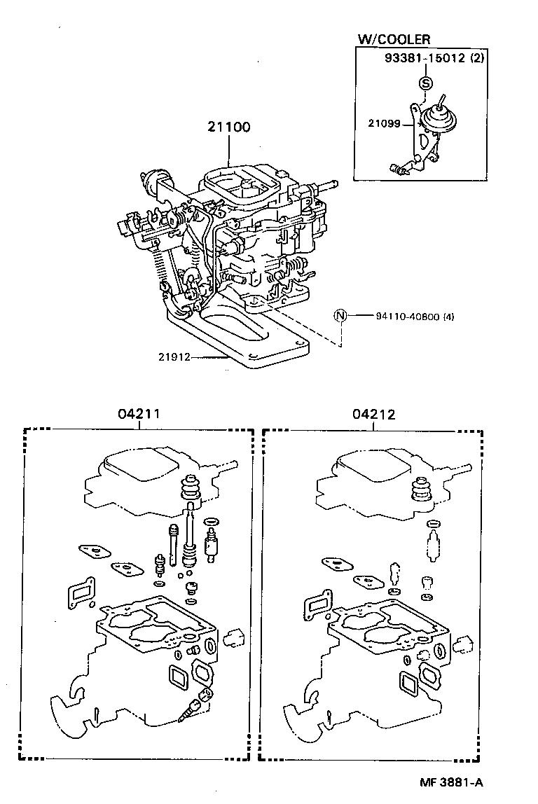 toyota stoutyk110l-mrh - tool-engine-fuel