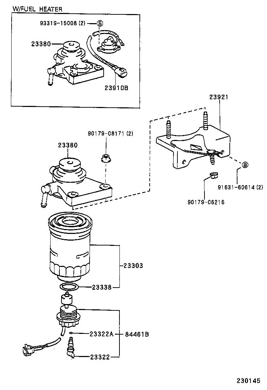 toyota hiace hiace s b vlxh12l-rbmrsw - tool-engine-fuel