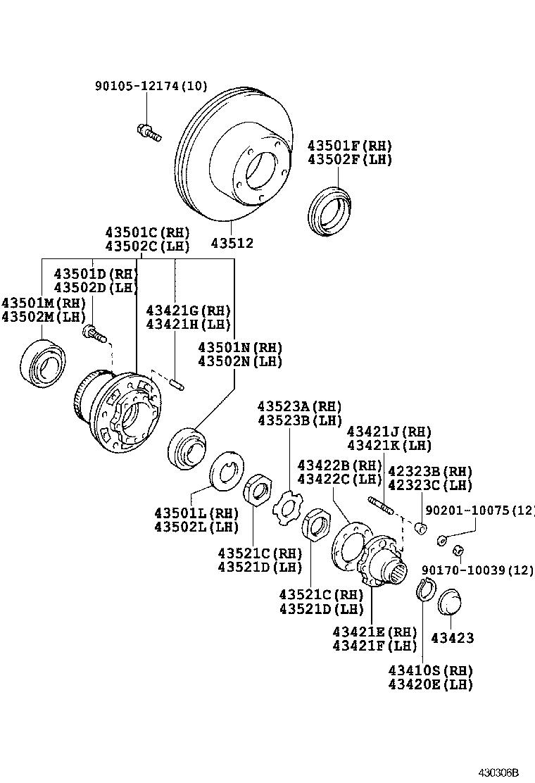toyota land cruiser 100hdj100l-gnmezw - powertrain-chassis