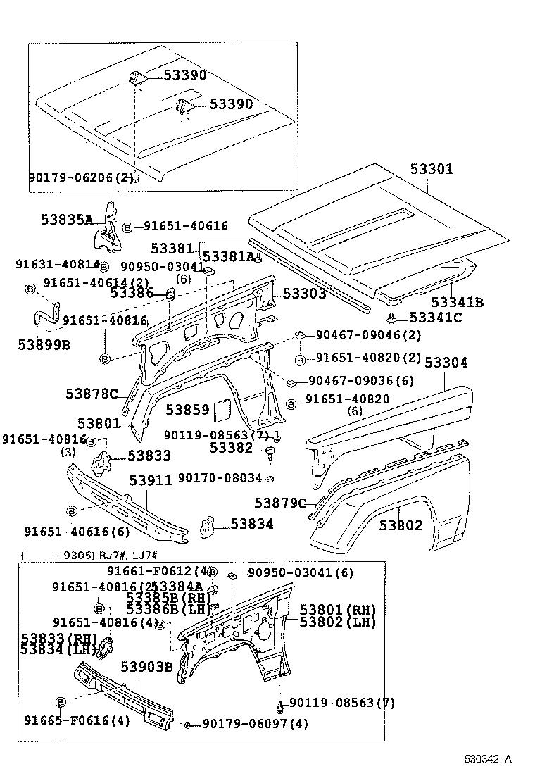 toyota land cruiser 70lj70lv-mexw - body