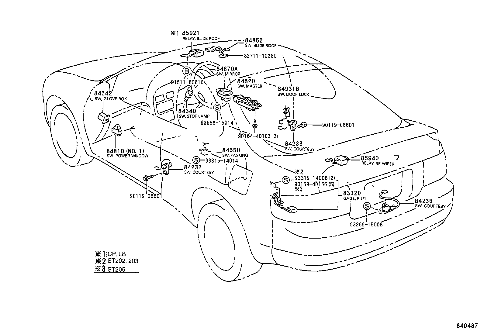 Toyota Celicast205l-blmvzw - Electrical