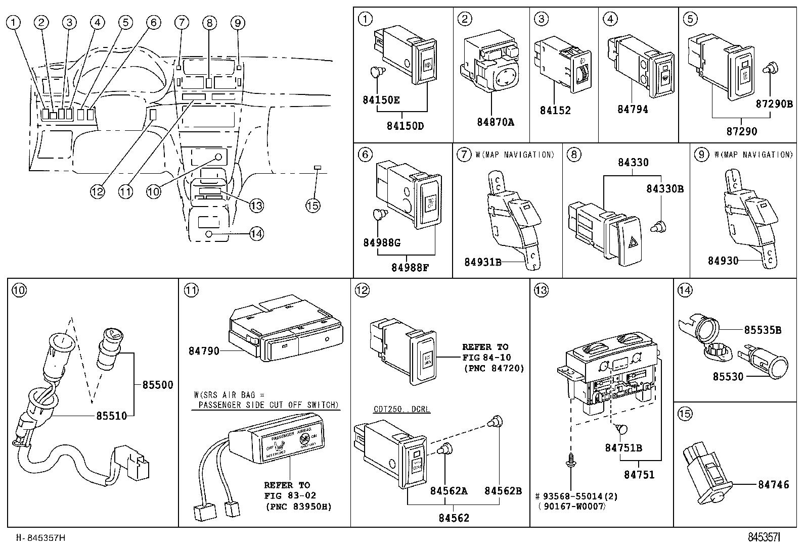 toyota avensisadt250l-aefeyw - electrical