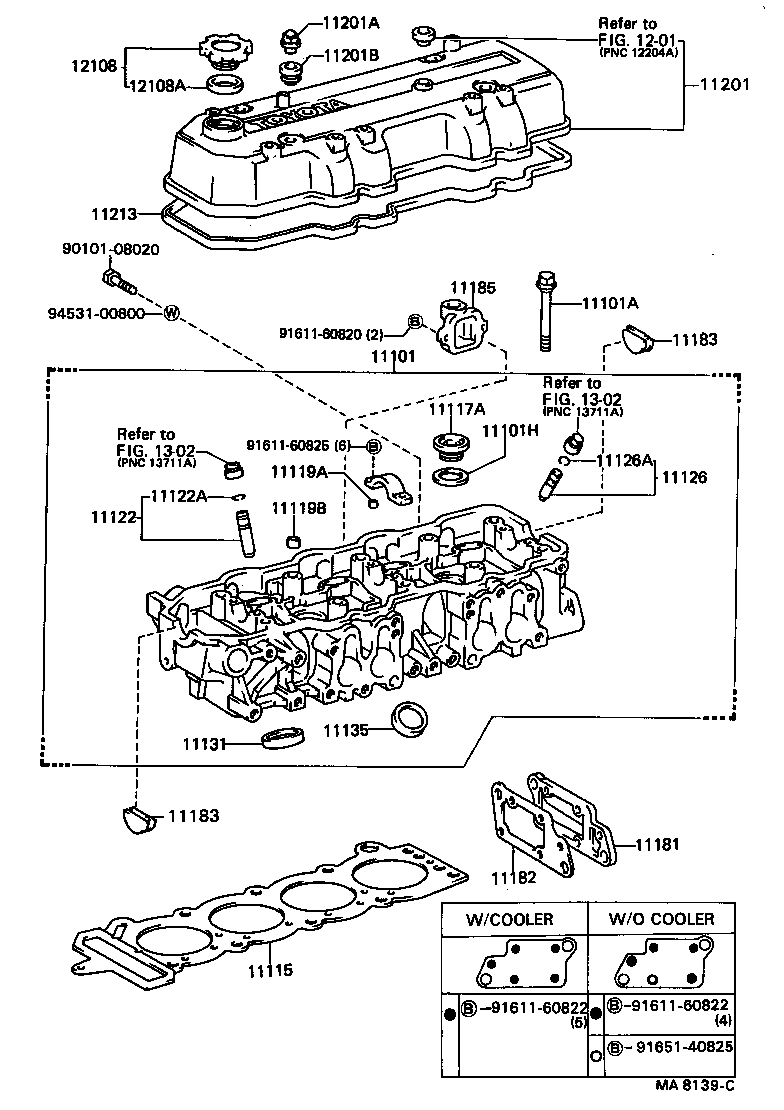 Toyota Cressidarx70l-xepnsv - Tool-engine-fuel