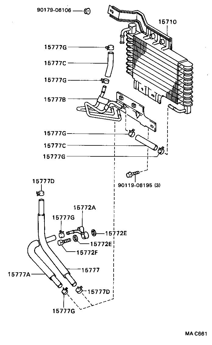 Toyota Celicaat180l Blmskg Tool Engine Fuel Oil Cooler 1993 Celica Diagram