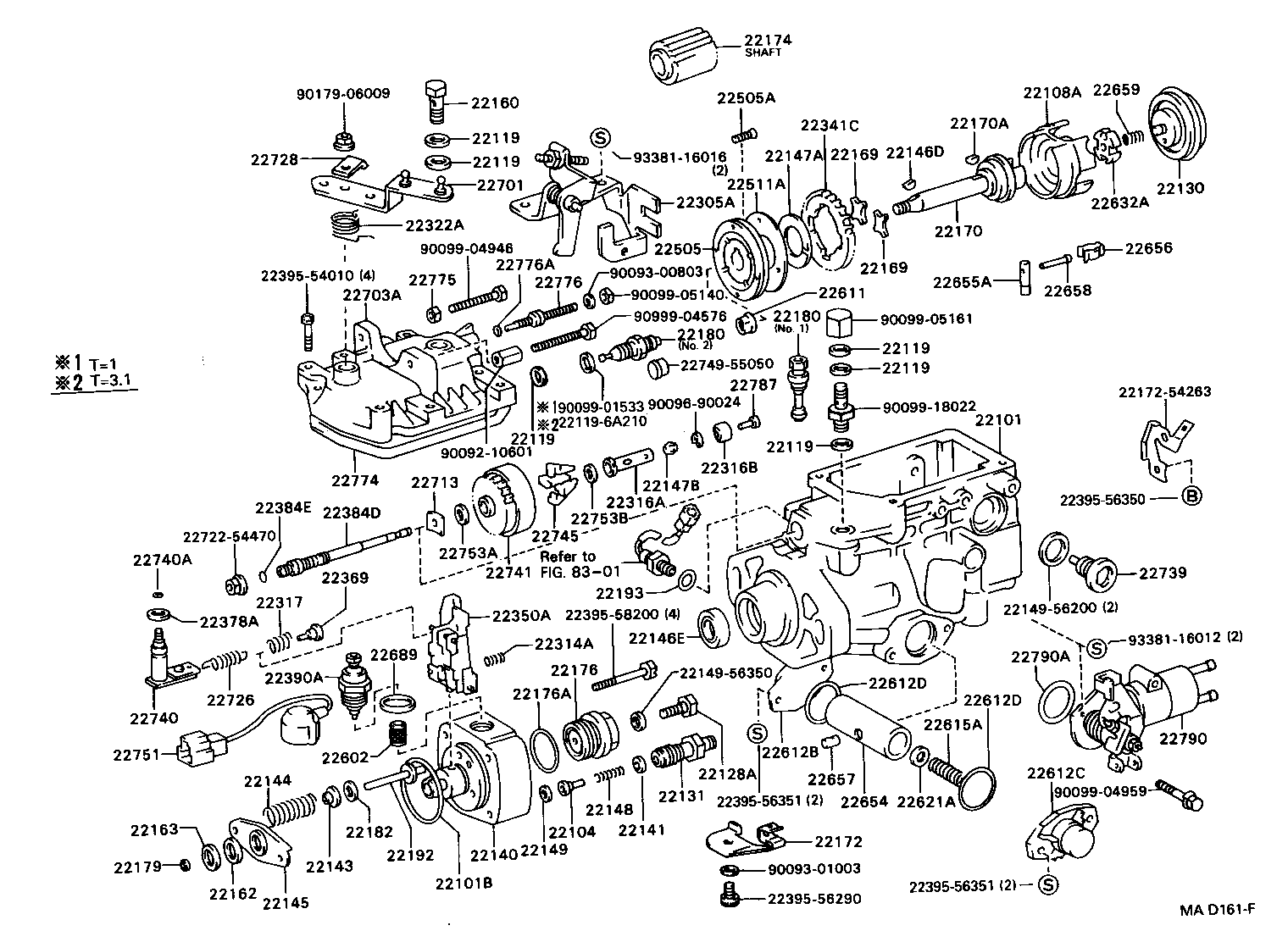 2203 injection Pump Body on 1990 toyota celica parts diagram