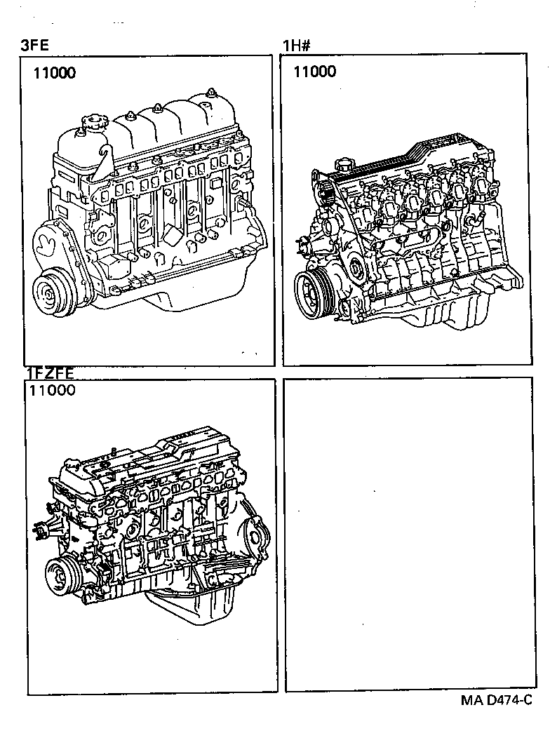 LAND CRUISER 80 |  PARTIAL ENGINE ASSEMBLY