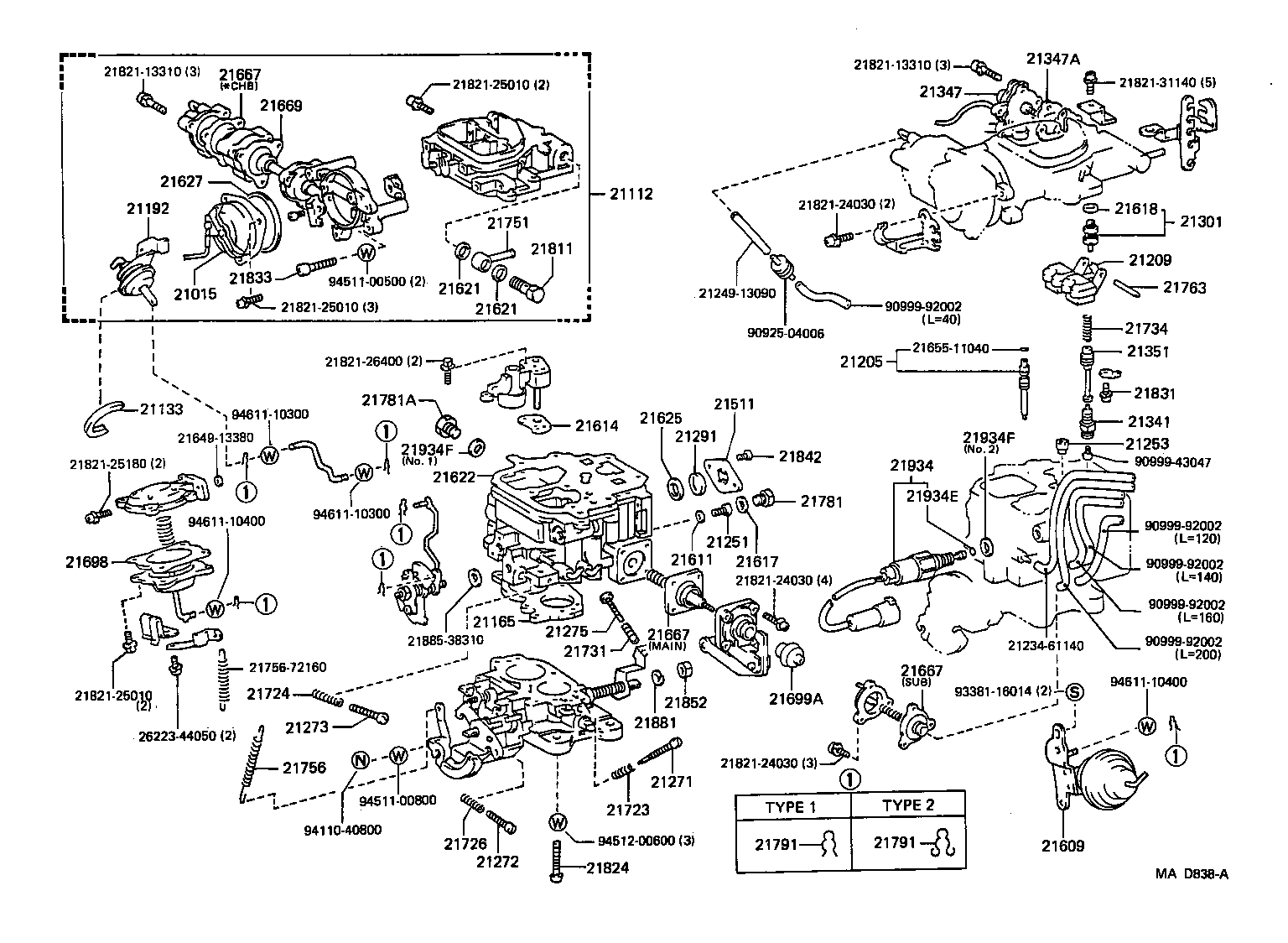 toyota dyna 100yh81l-mdpw - tool-engine-fuel