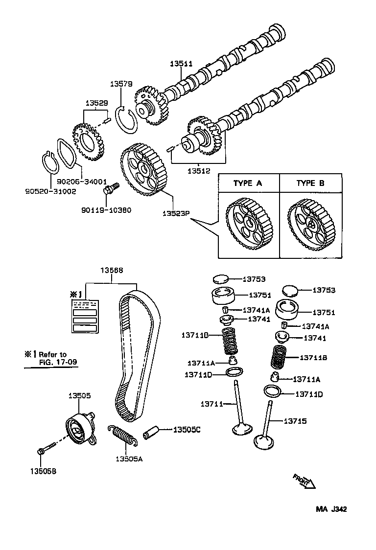 toyota corolla sed wgae101l-aemnkw - tool-engine-fuel