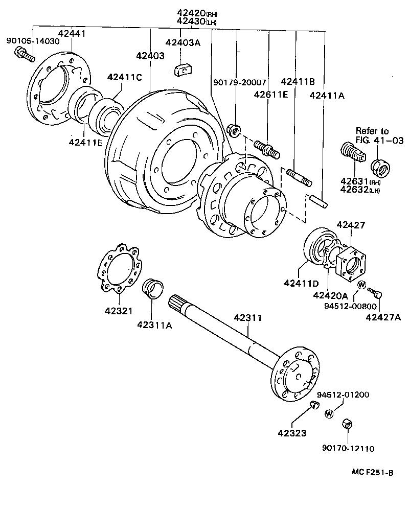 1980 toyota celica supra rear axle