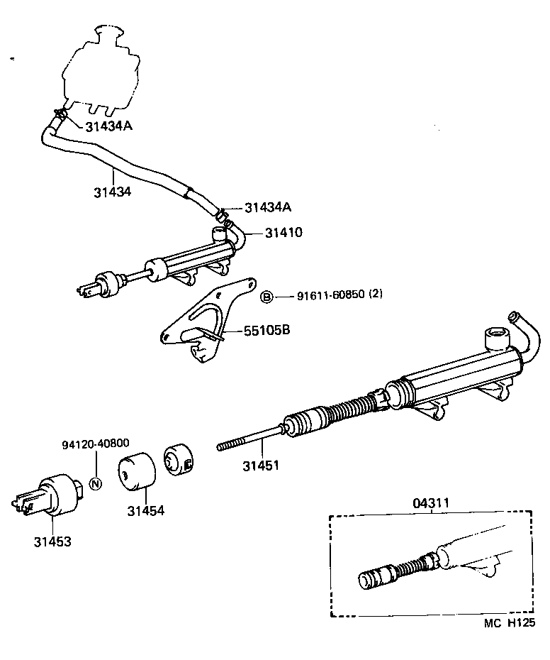 TOYOTA LITEACE VAN WAGONCM36LV-MRSBFEW - POWERTRAIN-CHASSIS