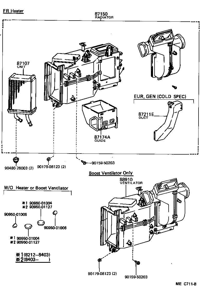 toyota hiace van comuterlh61rv-qrbw - electrical