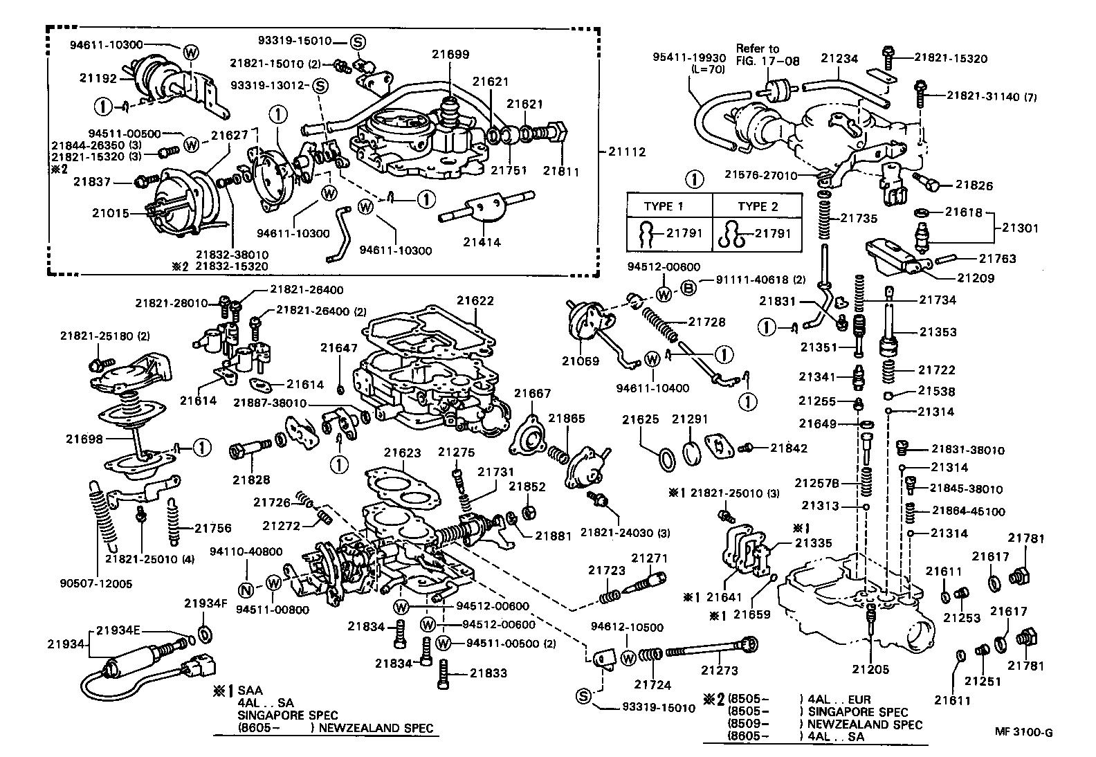 toyota corollaae80r-eemns - tool-engine-fuel