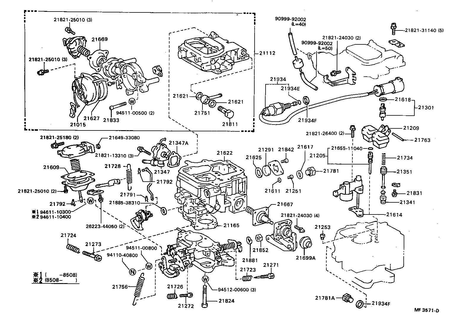 1985 Toyota Pickup Carburetor Diagram       Japan-parts Eu  Toyota     Images