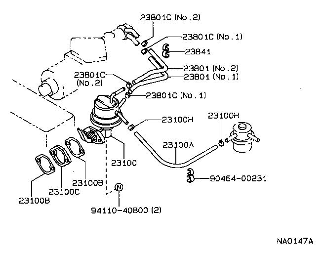 toyota corollaee90l-aemdsw - tool-engine-fuel