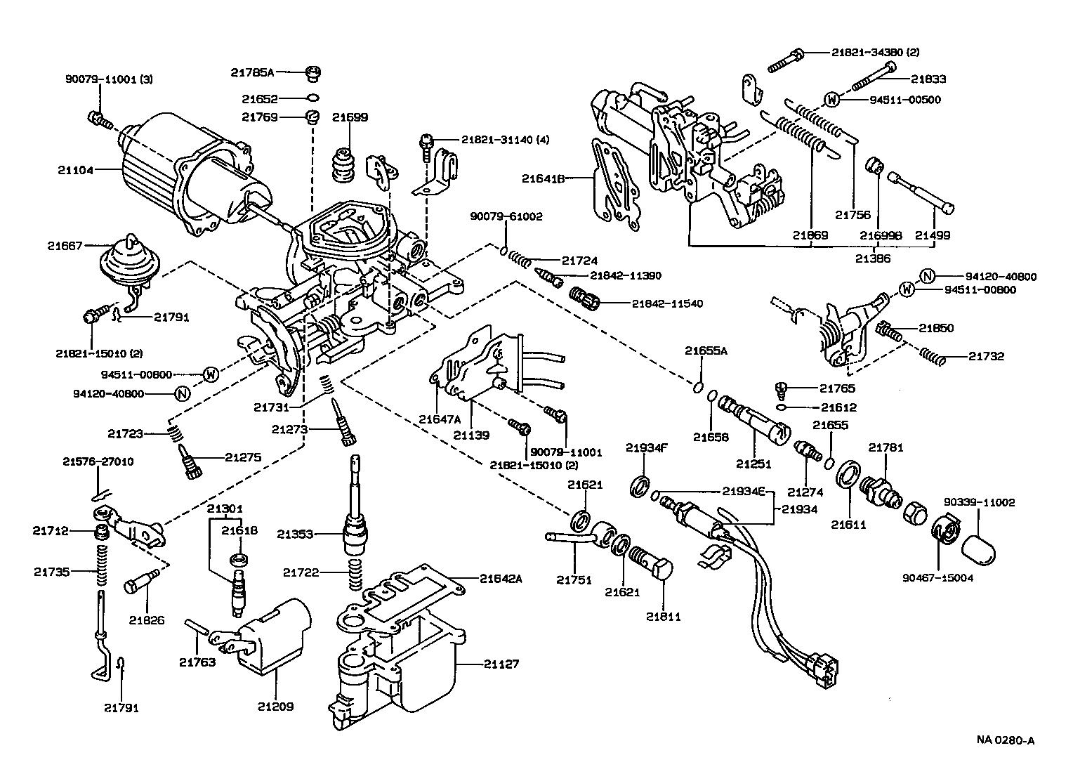 1989 toyota pickup carburetor diagram