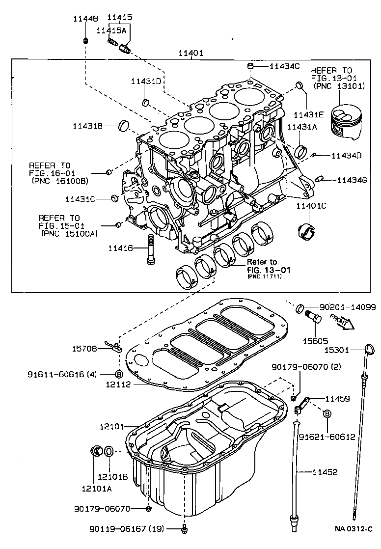 toyota carina 2ct170l-almdsg - tool-engine-fuel - cylinder block   japan  parts eu  japan parts eu
