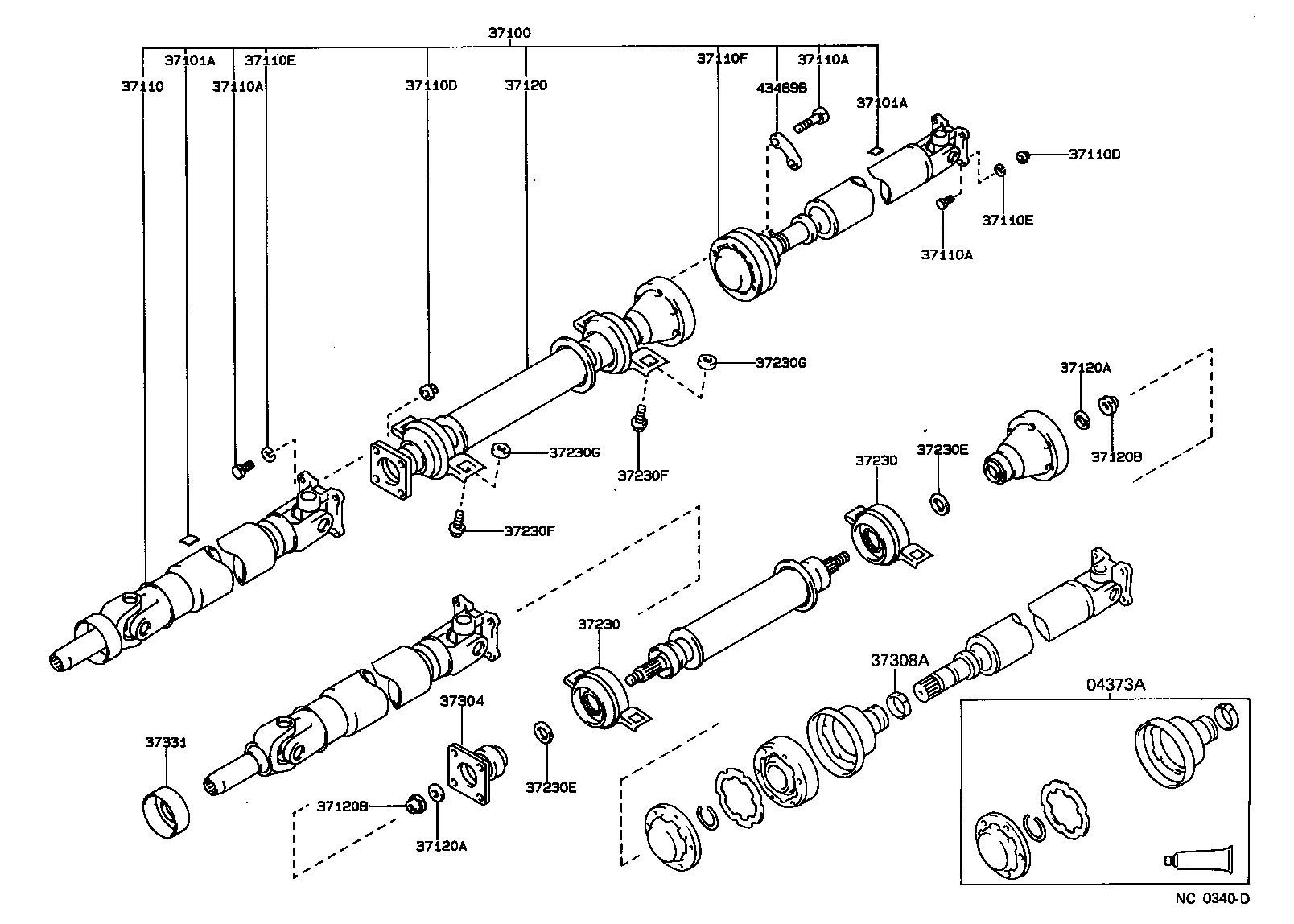 toyota corollaae95l-aemduw - powertrain-chassis