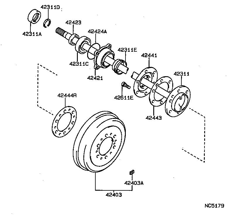 toyota hilux jppln130l-gkmsxw - powertrain-chassis