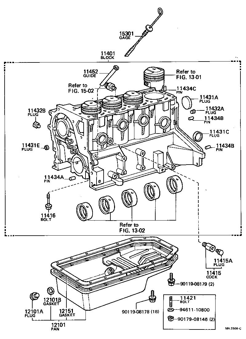 toyota coronatt133r-tekrsy - tool-engine-fuel
