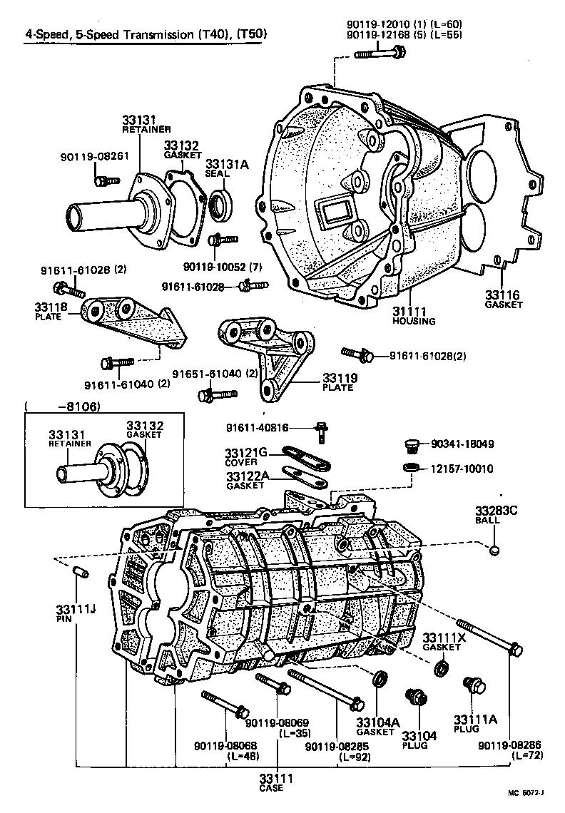toyota celicata40l-bckdsw - powertrain-chassis