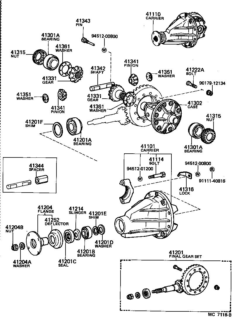 toyota land cruiser 40fj45lp-k - powertrain-chassis