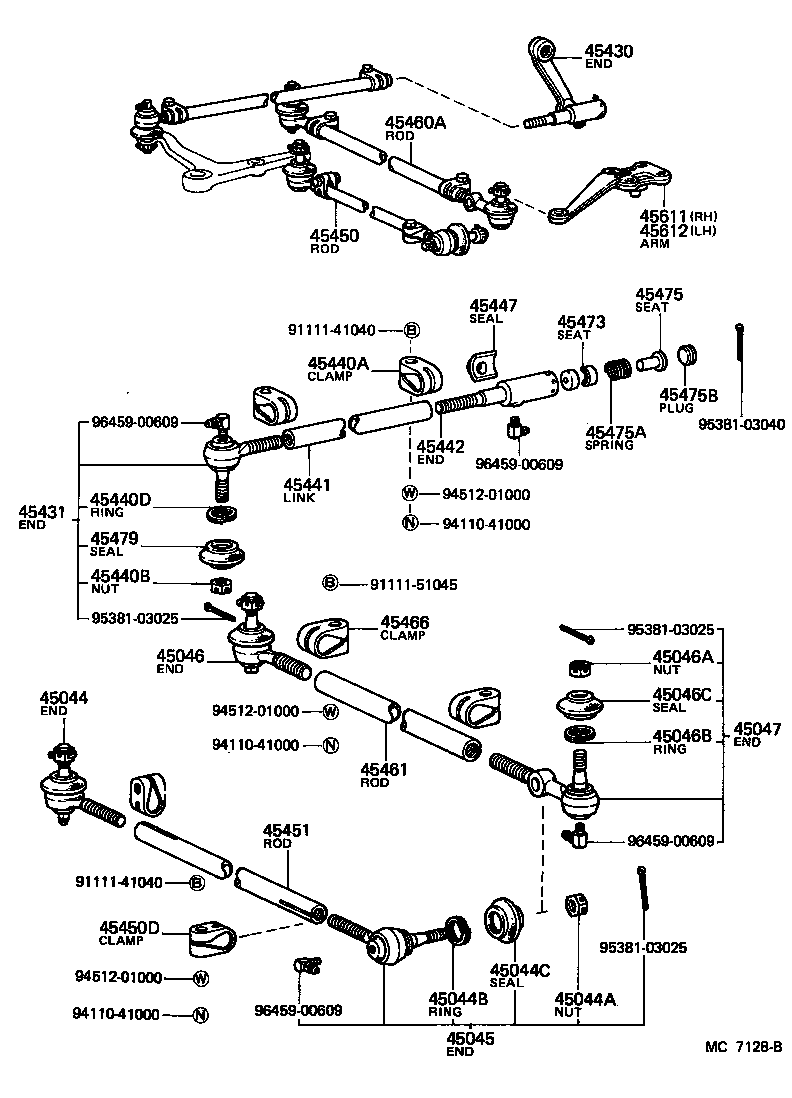 toyota land cruiser 40bj42lv-k - powertrain-chassis