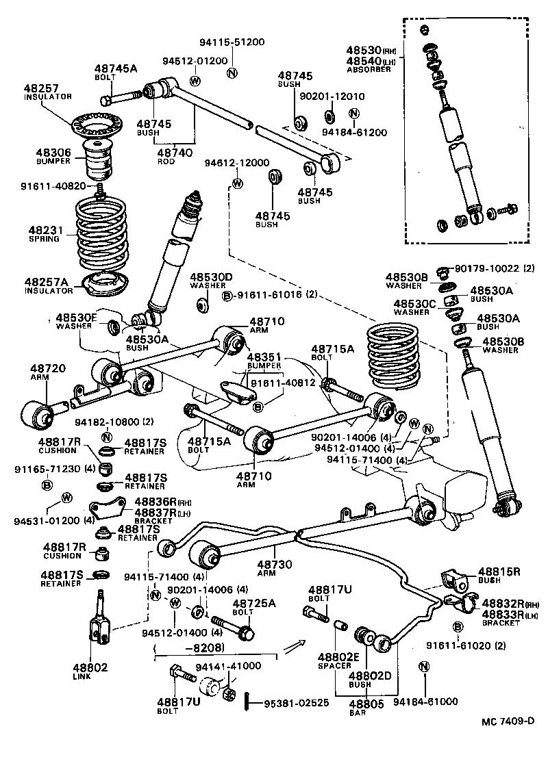 toyota cressidalx60lg-xwpdsw - powertrain-chassis