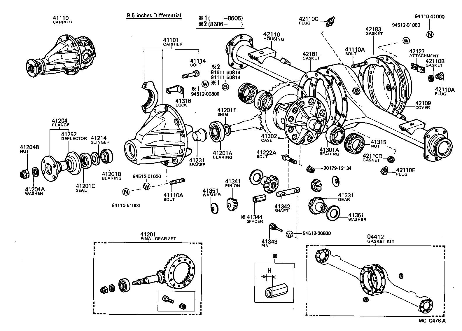 toyota dyna 150yy60r-mdb - powertrain-chassis