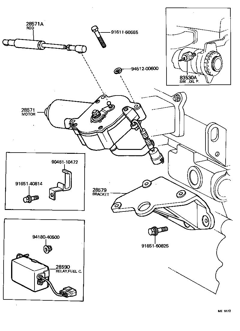 toyota land cruiser 40bj42lv-k - electrical