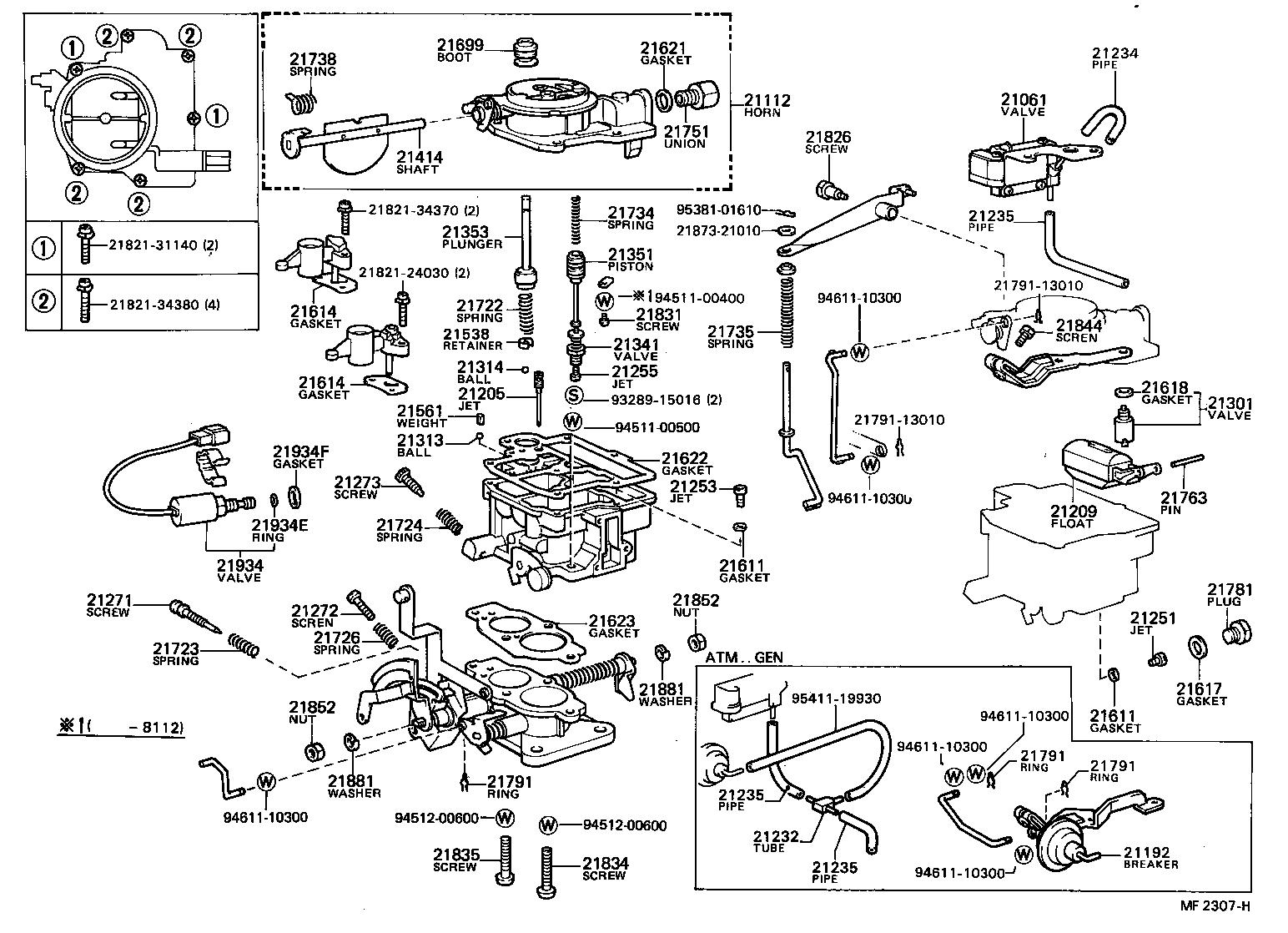 toyota corollake70lg-ezkrs - tool-engine-fuel