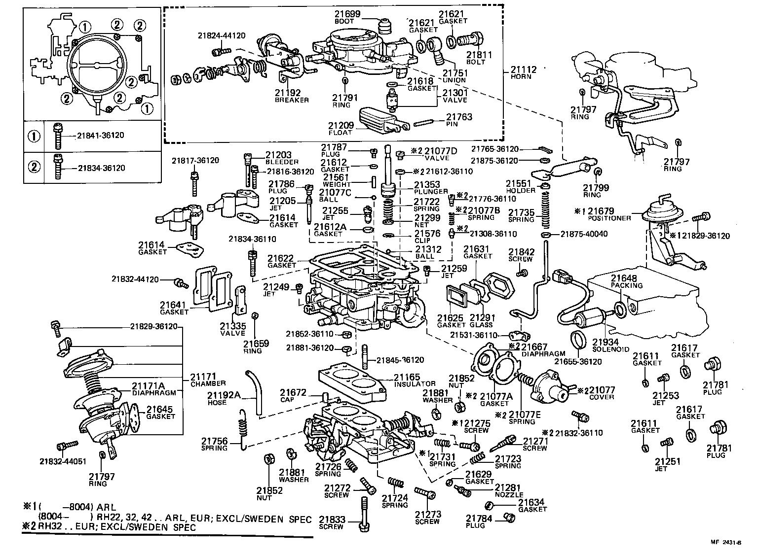 toyota hiacerh32lv-jre - tool-engine-fuel