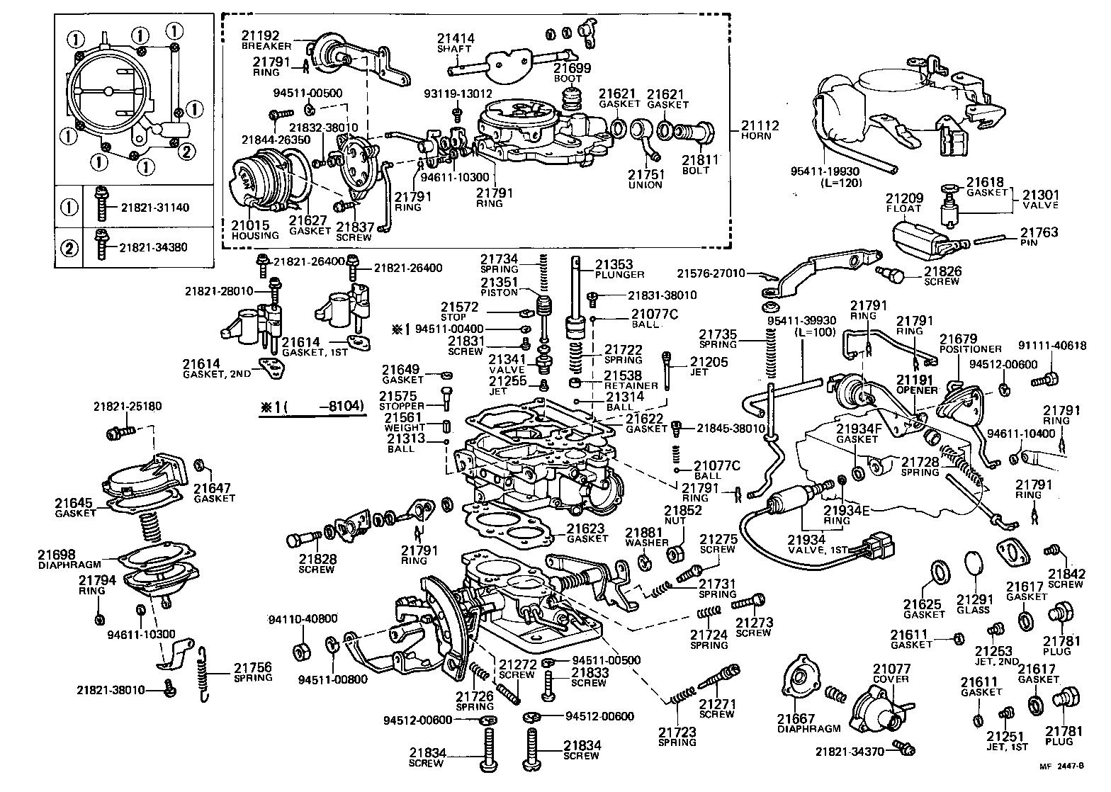 toyota 2e carburetor diagram