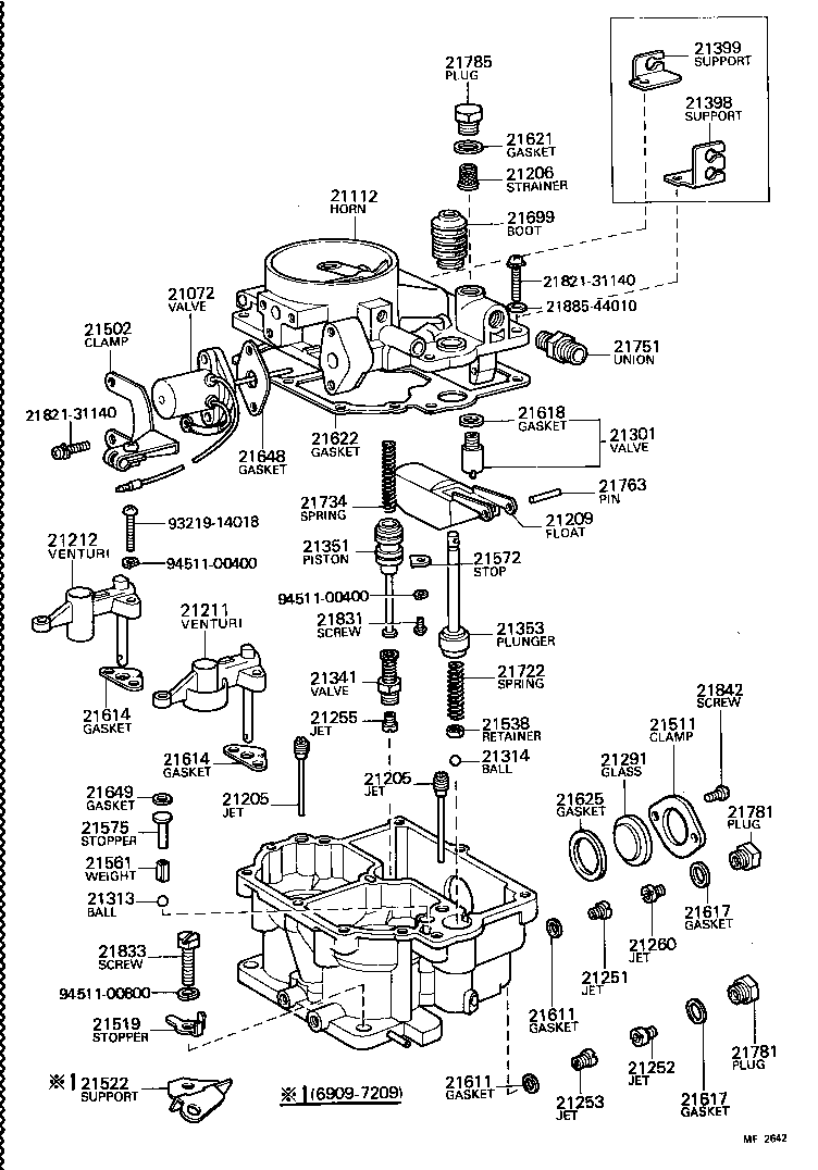 LAND CRUISER 40 45 55 |  CARBURETOR
