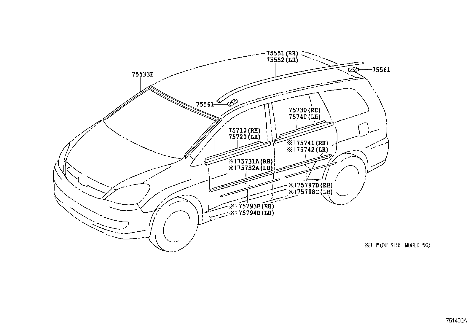 Toyota Innova Kijang Innovatgn41l Gkpdkv Body Moulding Japan Parts Eu