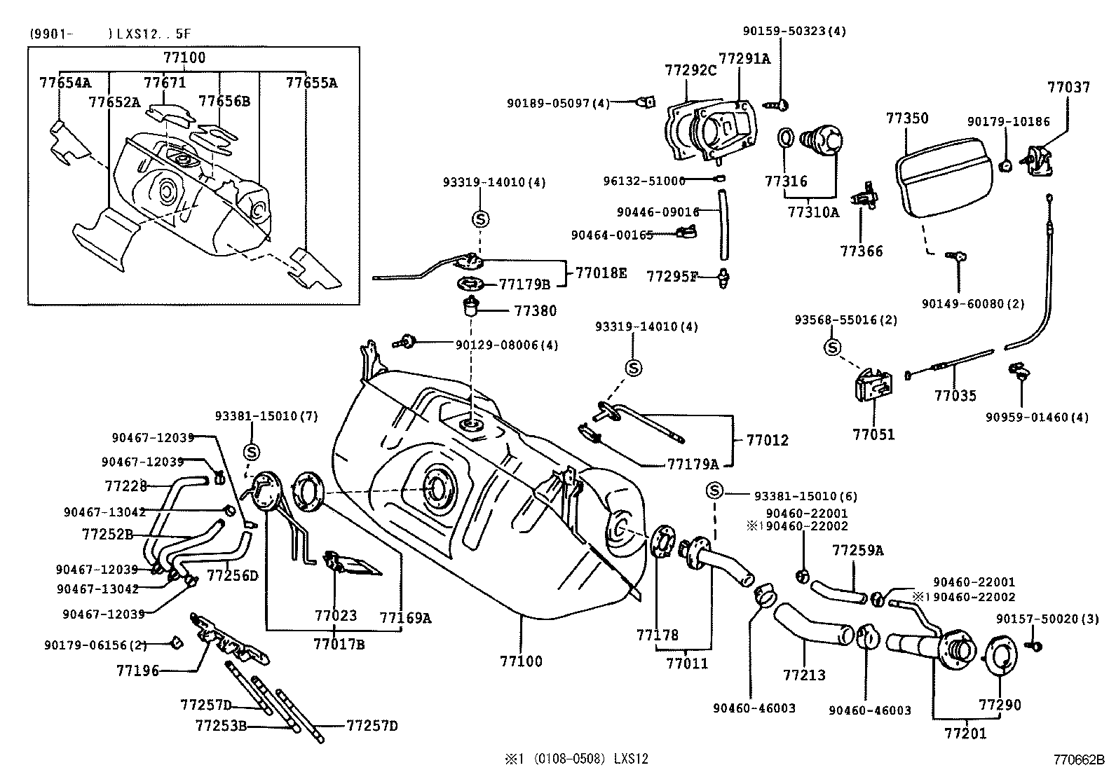 Diagram view in addition Toyota lite ace noah 2846591 p likewise 7701 fuel Tank Tube in addition 4101 rear Axle Housing Differential additionally 1702 exhaust Pipe. on 1999 toyota van liteace