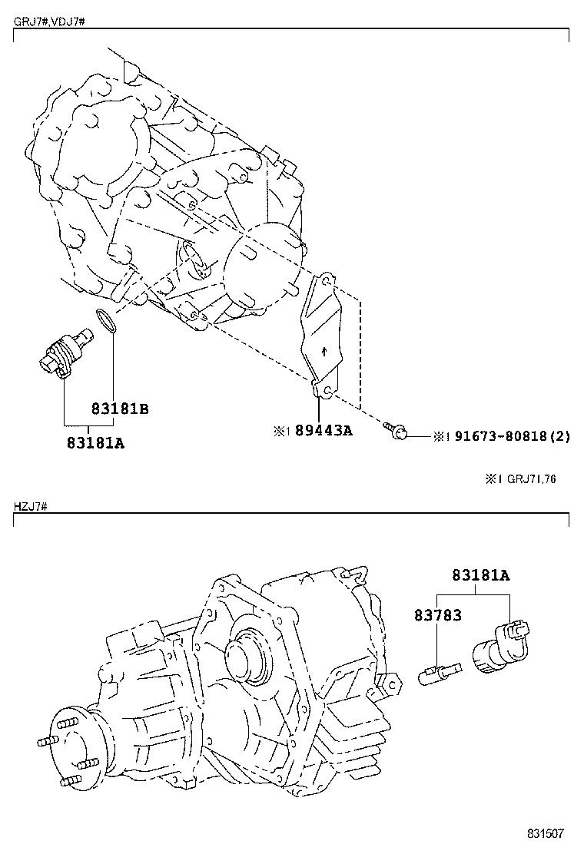 toyota land cruiser 70hzj79r-tjmrs - electrical