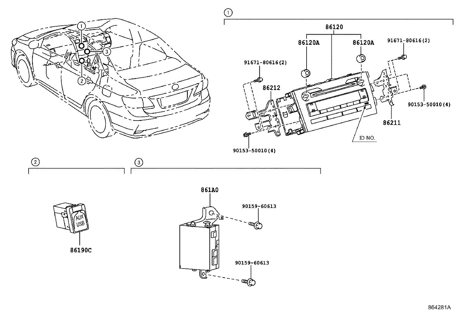 toyota aurisnre150l-defdk - electrical