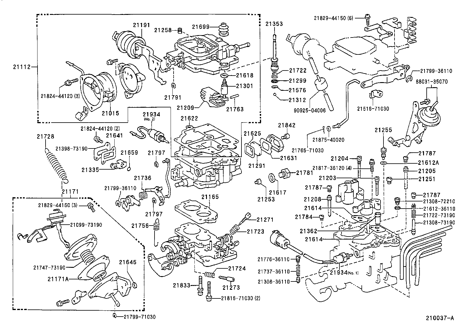 A on 1994 Toyota Pickup Vacuum Diagram