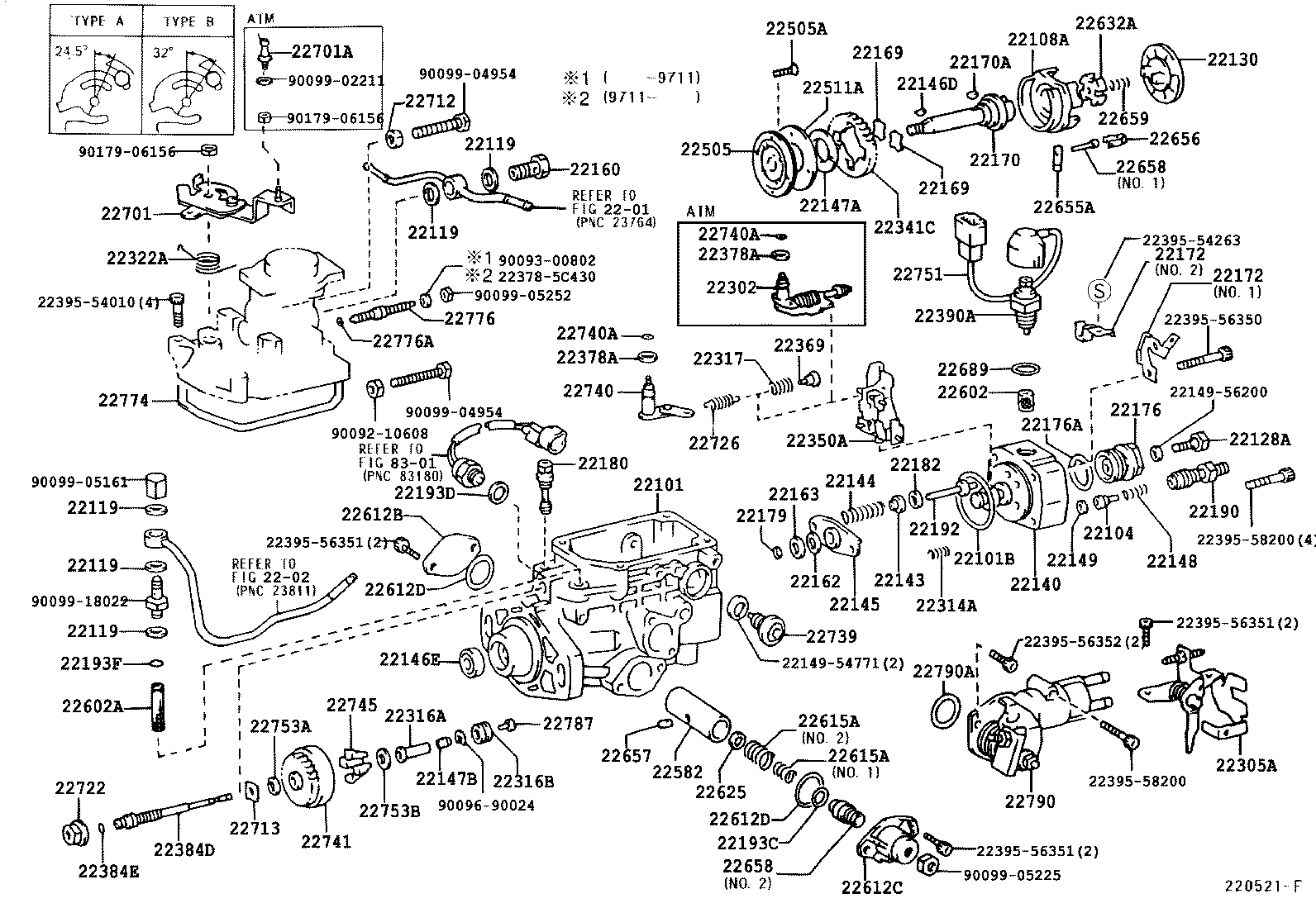 toyota 22re timing marks diagram