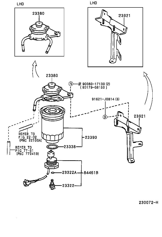 toyota hiluxln166l-prmdsv - tool-engine-fuel