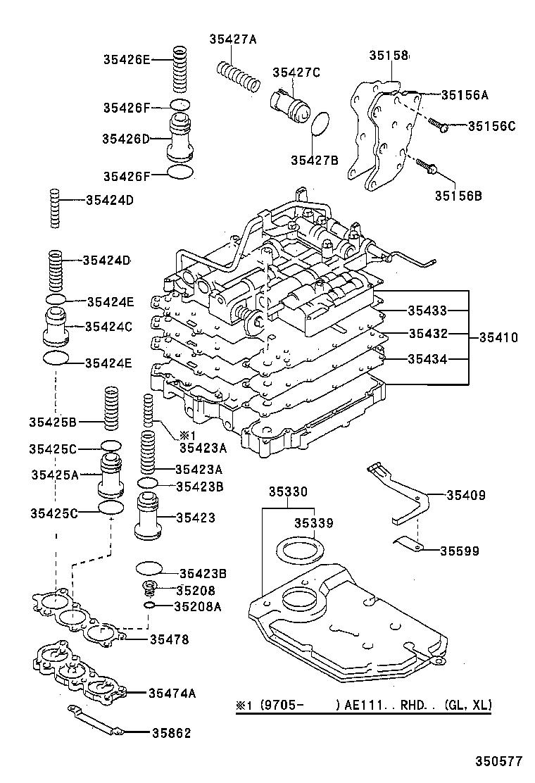 toyota corollaae110r-aepek - powertrain-chassis
