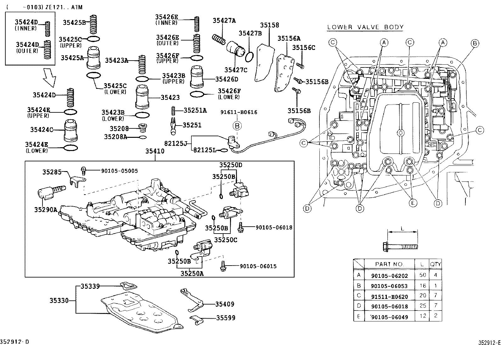 toyota corollazze121l-aepdk - powertrain-chassis